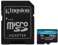 KINGSTON CANVAS GO! PLUS MICROSD 256GB UHS-I (U3) SD CARD With SD ADAPTOR