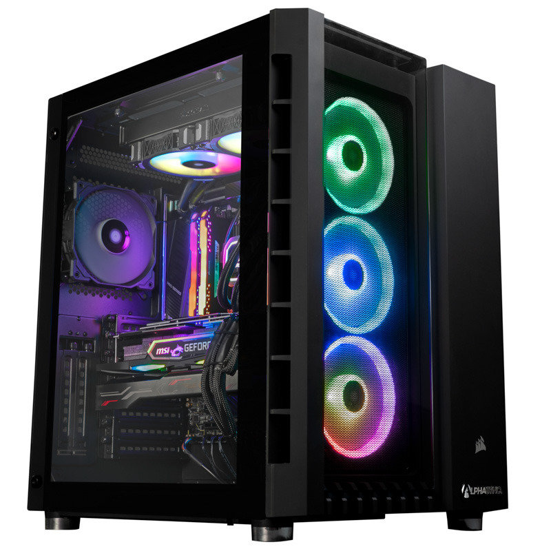 AlphaSync Threadripper 3960X 64GB RAM 4TB HDD 500GB NVMe RTX 2080Ti Win10 Pro Gaming PC