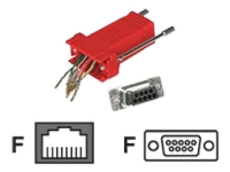 C2G, RJ45/DB9F Modular Adapter Red