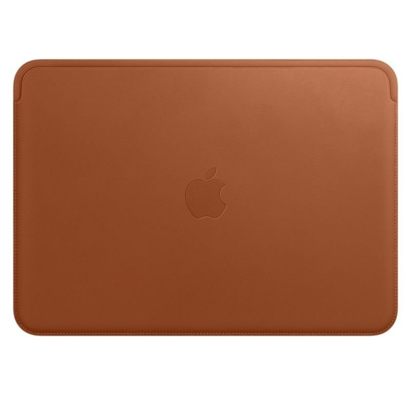 Leather Sleeve for 12 MacBook Saddle Brown
