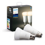 Philips Hue Bluetooth Smart Bulb - White B22 Twin Pack - Works with Alexa and Google Assistant*