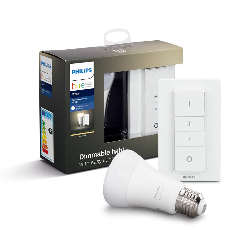 Philips Hue Bluetooth White Smart Light E27 Wireless Dimming Kit - Works with Alexa and Google Assistant*