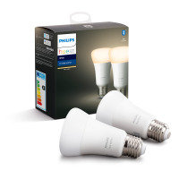 Philips Hue Bluetooth Smart Bulb - White E27 Twin Pack - Works with Alexa and Google Assistant*