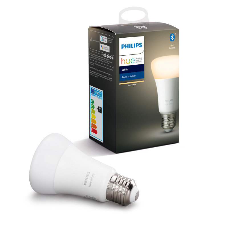 Philips Hue Bluetooth Smart Bulb - White E27 - Works with Alexa and Google Assistant*