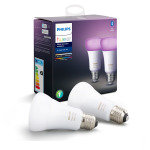 Philips Hue Bluetooth Smart Bulb - White and Colour Ambience E27 Twin Pack - Works with Alexa and Google Assistant*