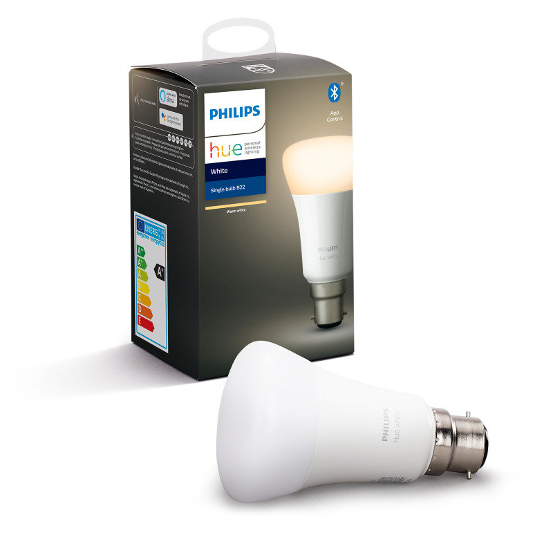 Philips Hue Bluetooth Smart Bulb - White B22 - Works with Alexa and Google Assistant*
