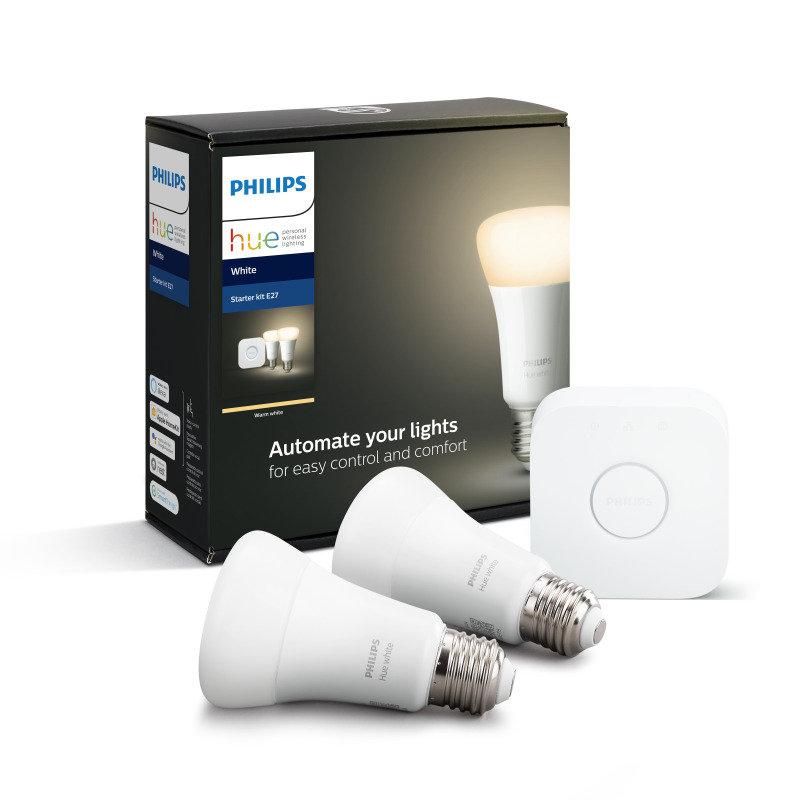 Philips Hue White Smart Bulb Mini Starter Kit E27 - Works with Alexa and Google Assistant