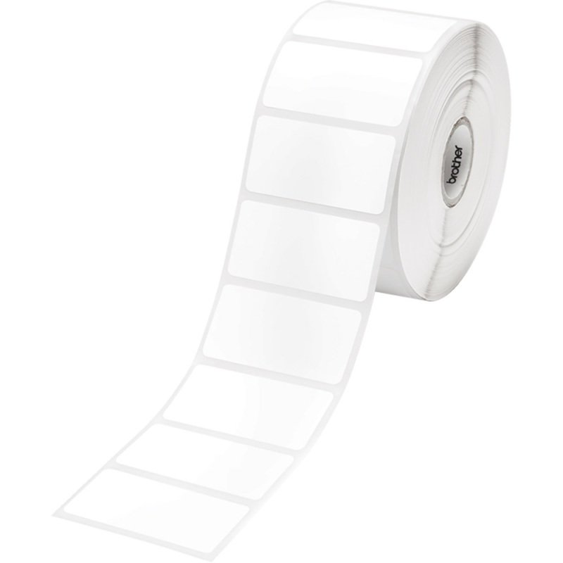 DIE CUT LABELS - WHITE 51MMX26MM 1552 LABELS/ROLL