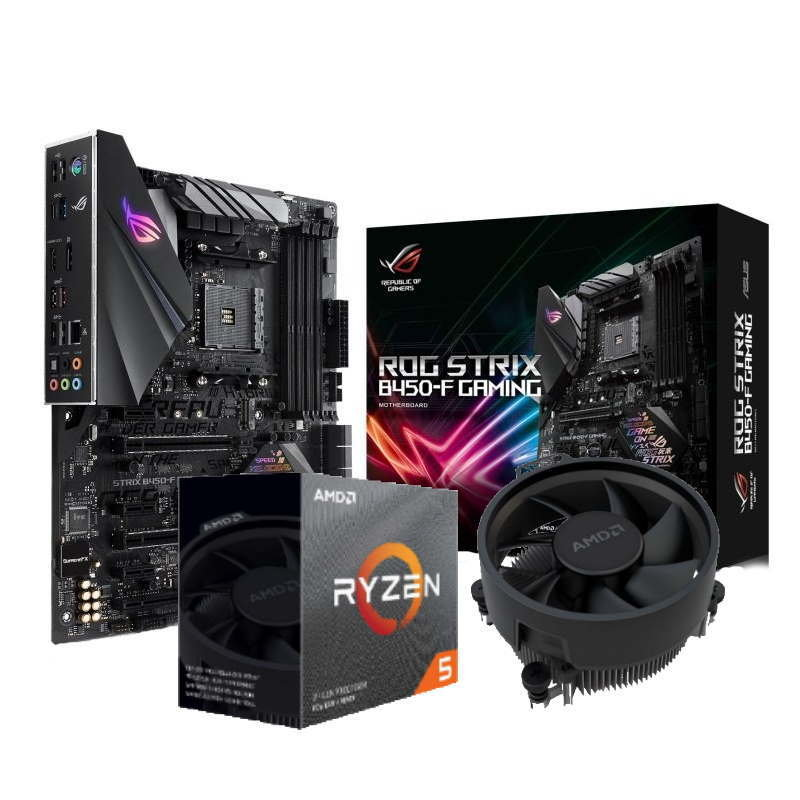 Image of ASUS ROG STRIX B450-F GAMING Motherboard with AMD Ryzen 5 3600 Processor Bundle