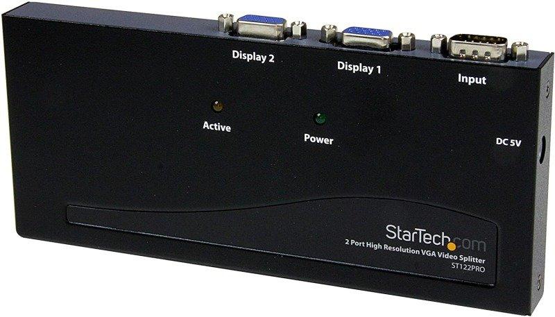 StarTech.com 2 Port High Resolution VGA Video Splitter - 350 MHz - 2Monitor