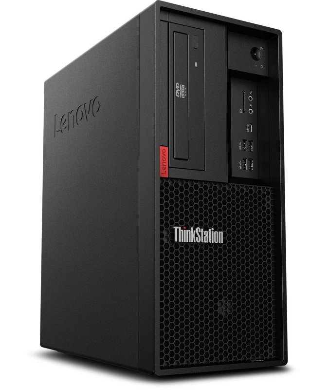 Image of Lenovo ThinkStation P330 Tower Workstation Desktop PC, Intel Xeon E-2276G 3.8GHz, 16GB RAM, 512GB SSD, DVDRW, Intel UHD, Windows 10 Pro