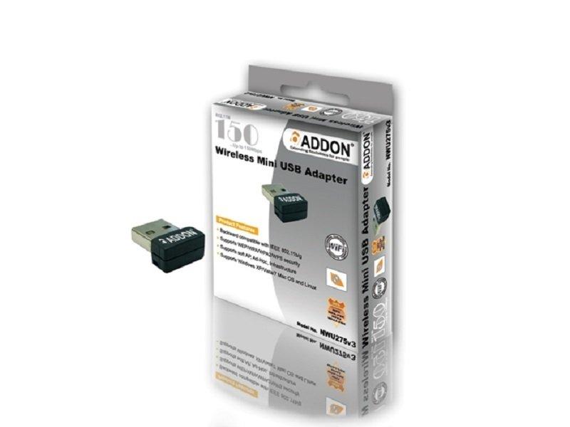Image of NWU275v3 ADDON 150Mb Wireless-N USB Adapter N150 WIFI