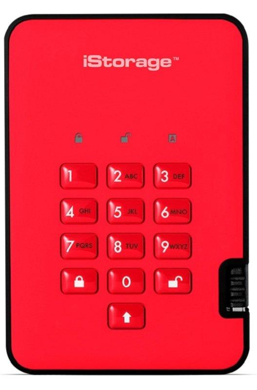 iStorage 500GB diskAshur2 HDD - Fiery Red