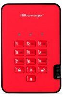iStorage 3TB diskAshur2 HDD - Fiery Red
