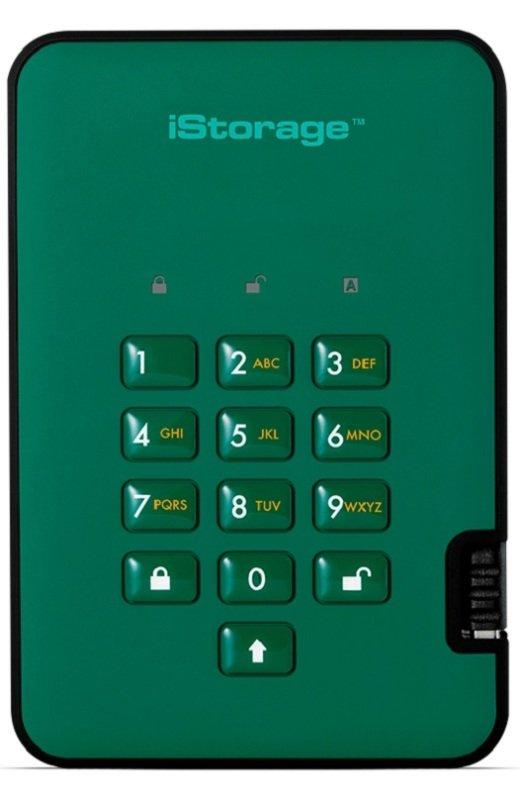 iStorage 4TB diskAshur2 HDD - Racing Green