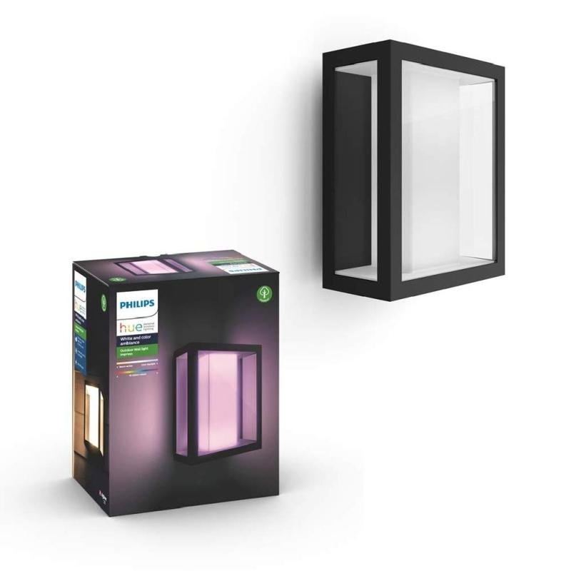 Philips Hue Impress White and Colour Ambience Outdoor Wall Light (Wide) - Works with Alexa and Google Assistant*