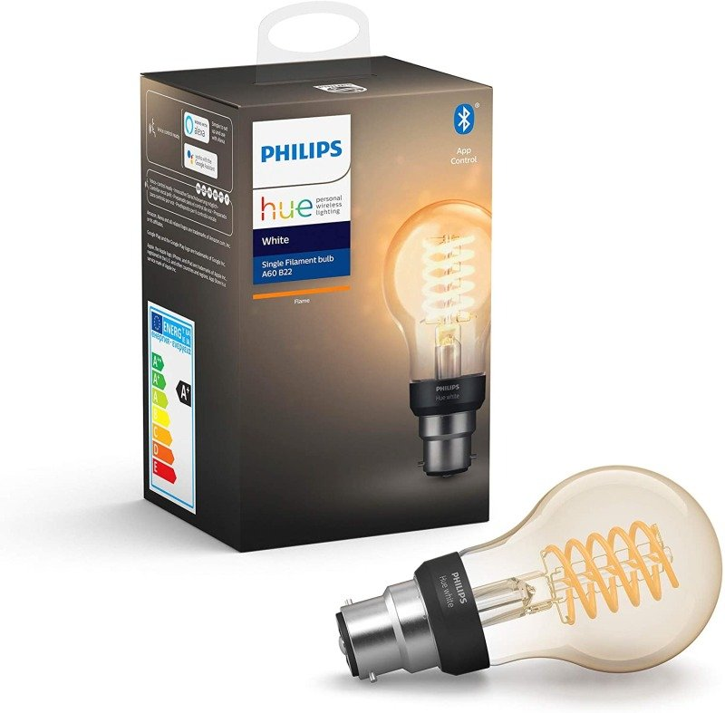 Philips Hue Bluetooth Filament White B22 Smart Bulb - Works with Alexa and Google Assistant*