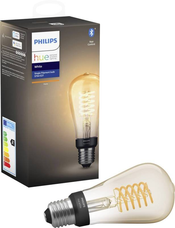 Image of Philips Hue Bluetooth Filament Edison White E27 Smart Bulb - Works with Alexa and Google Assistant*