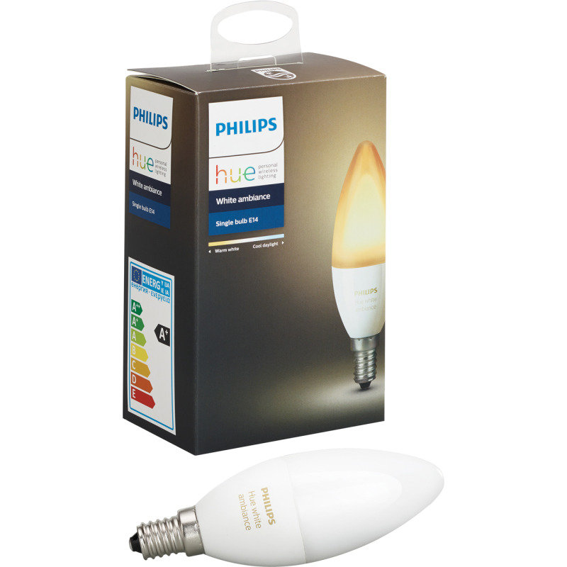 Philips Hue Bluetooth Smart Bulb - White Ambience E14 - Works with Alexa and Google Assistant*