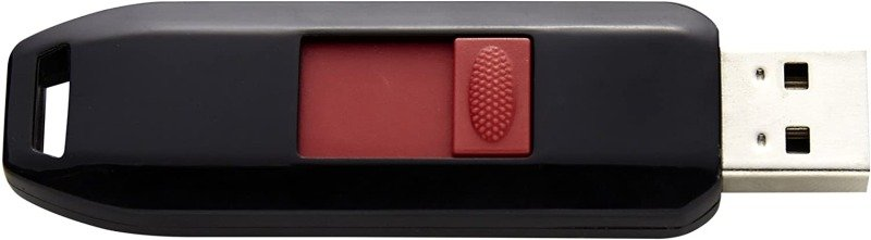Intenso Business line - Flash Drive 16 GB - USB 2.0, Black/Red