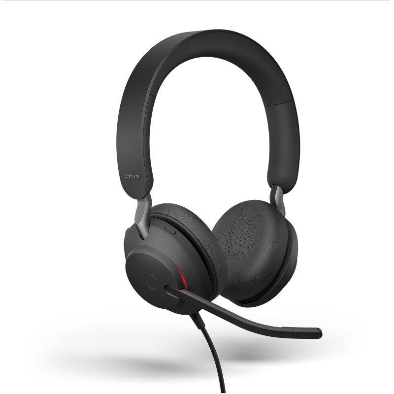 Jabra Evolve2 40 USB-C MS Stereo Headset - Black
