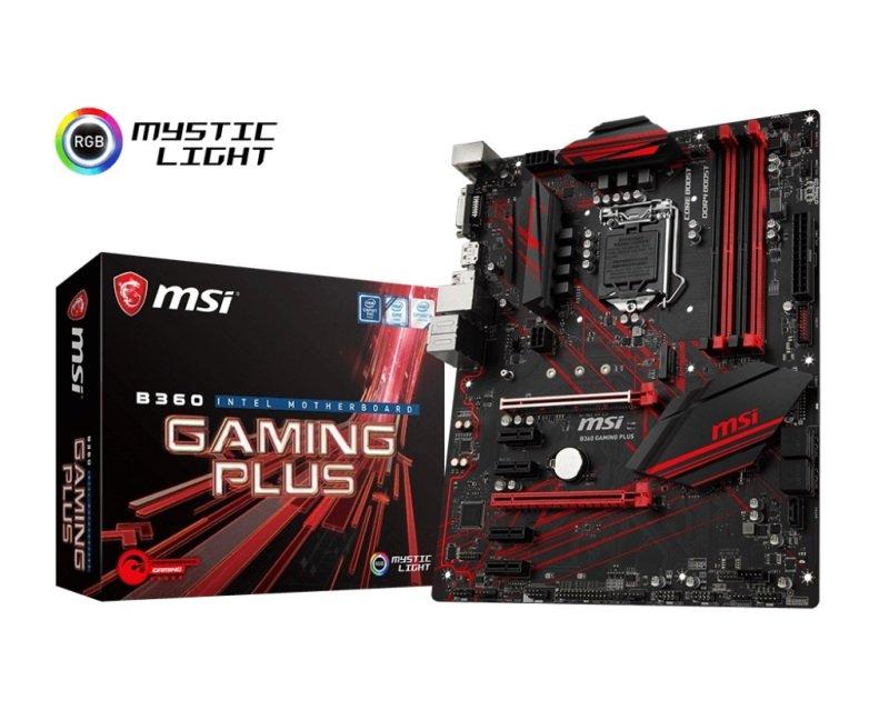 EXDISPLAY MSI B360 GAMING PLUS LGA 1151 DDR4 ATX Motherboard