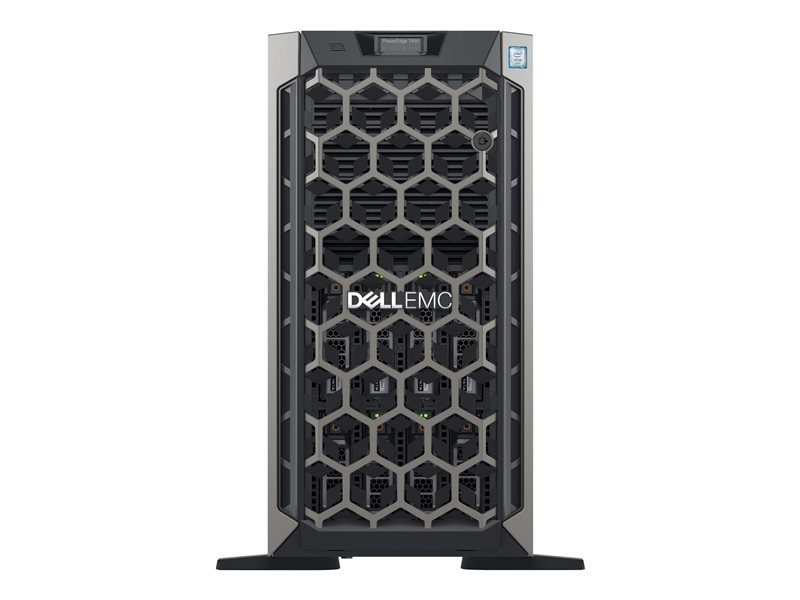 Dell EMC K/PowerEdge T440 + Win Server 2019 Essential Bundle - Tower - Xeon Silver 4208 2.1 GHz - 16