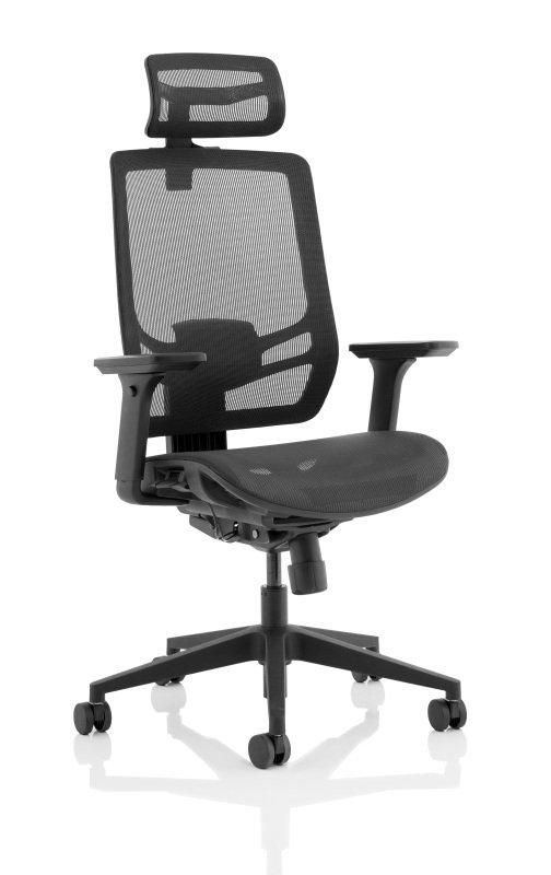Ergo Twist - Mesh Seat, Mesh Back with Headrest, Black
