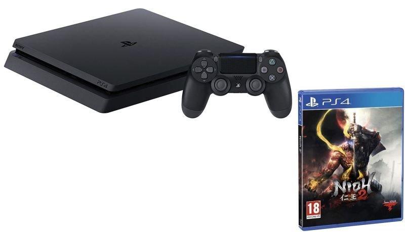 PlayStation 4 1TB Black Console with Nioh 2