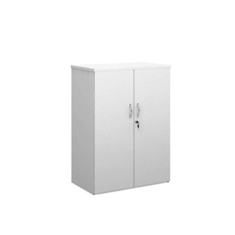 Duo Double Door Cupboard 1090mm High With 2 Shelves - White