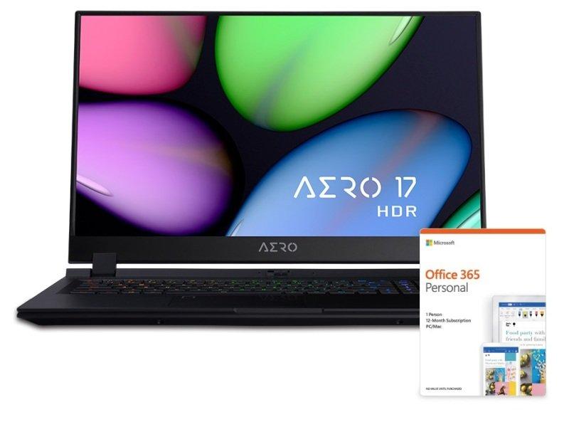 "Gigabyte AERO 17 Core i7 16GB 512GB SSD RTX 2070 MaxQ 17.3"" HDR Win10 Pro Studio Laptop"