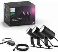 Philips Hue Lily Outdoor Spot Light Base unit - Works with Alexa and Google Assistant*