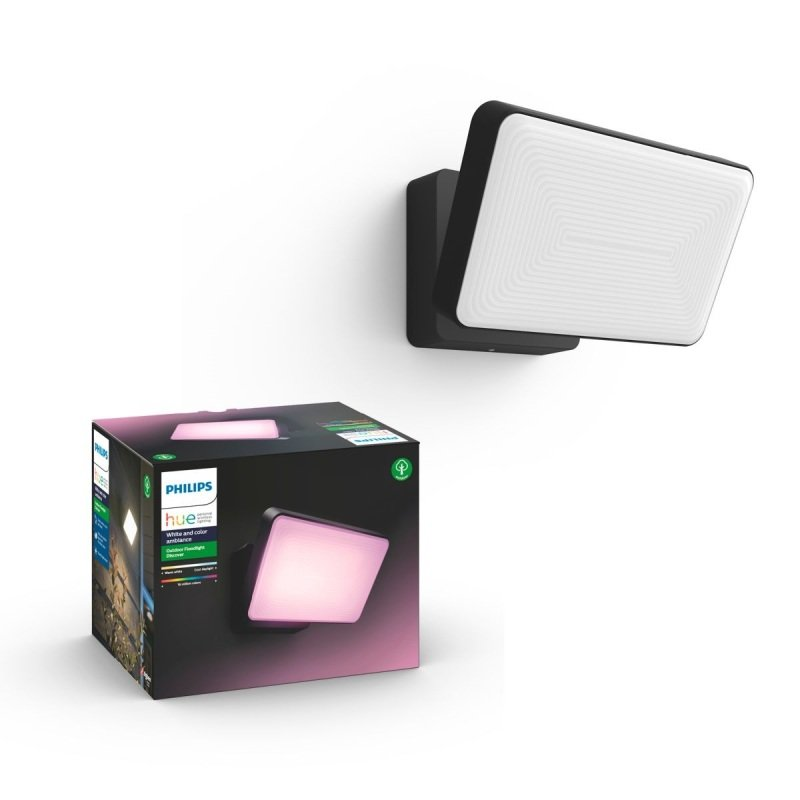 Philips Hue Discover White and Colour Ambience Outdoor Floodlight - Works with Alexa and Google Assistant*