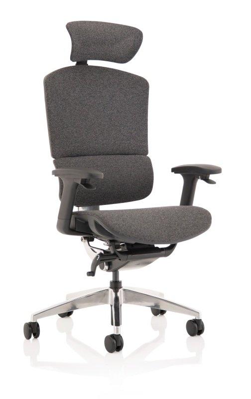 Ergo Click Plus - Fabrimesh with Headrest, Grey