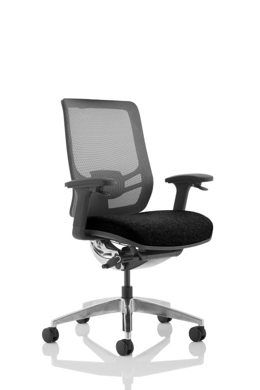 Ergo Click - Fabric Seat, Mesh Back, Black