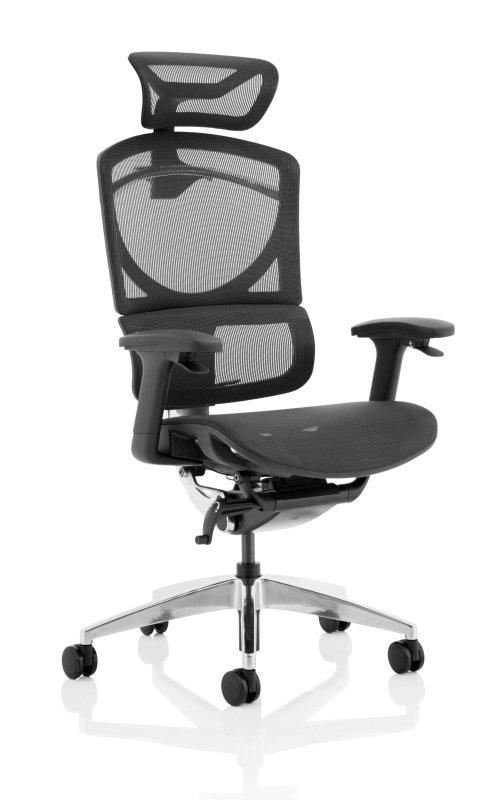 Ergo Click Plus - Mesh with Headrest, Black
