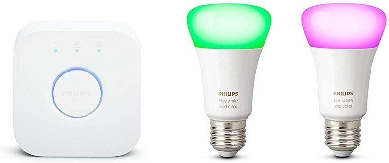 Philips Hue White and Colour Ambience Smart Bulb Mini Starter Kit E27 - Works with Alexa and Google Assistant