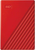 WD 2TB My Passport Portable External Hard Drive, Red
