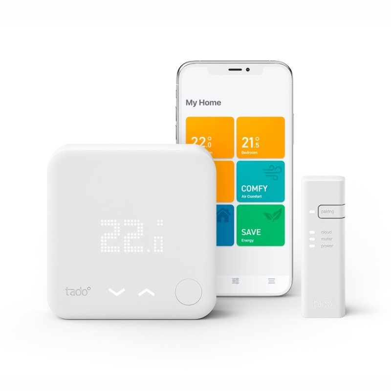 tado° Smart Thermostat Starter Kit V3+ - Intelligent heating control - Works with Alexa and Google Assistant