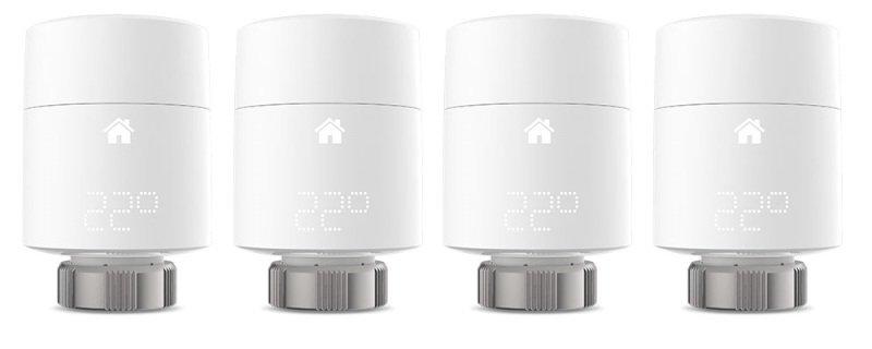 tado? additional Smart Radiator Thermostat Quattro Pack (vertical moun