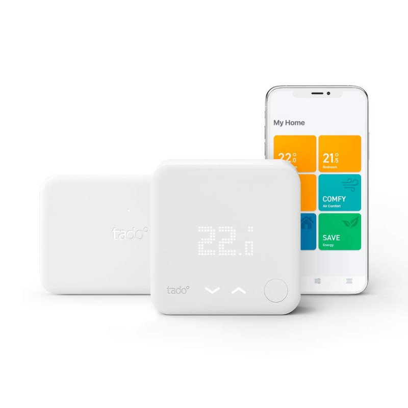 tado° Smart Thermostat Starter Kit V3+ with Hot Water Control - Works with Alexa and Google Assistant