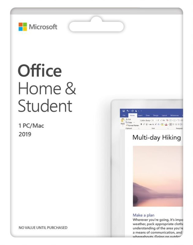 Office Home and Student 2019 Medialess - Latest Version