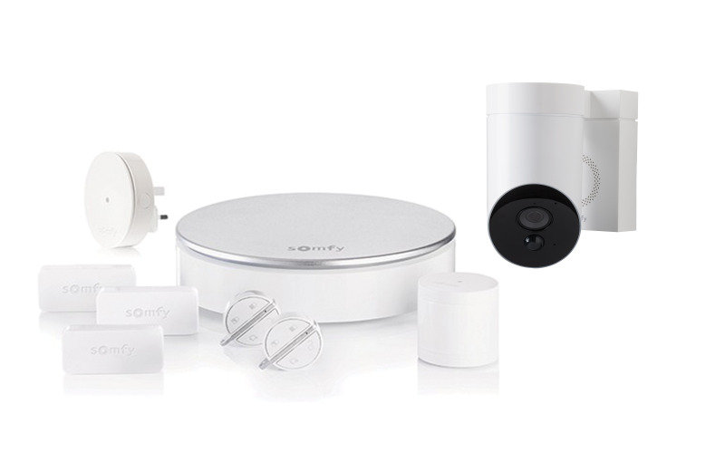 Somfy Home Alarm and Outdoor Smart Camera White - Works with Alexa and