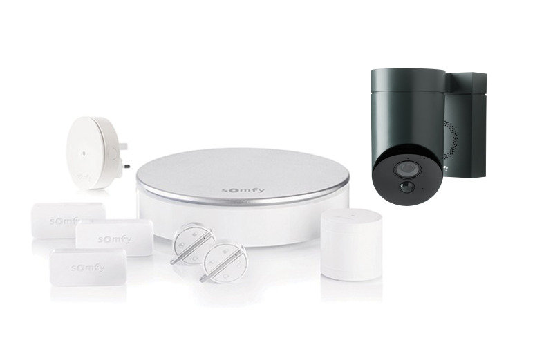 Somfy Home Alarm and Outdoor Smart Camera Grey - Works with Alexa and