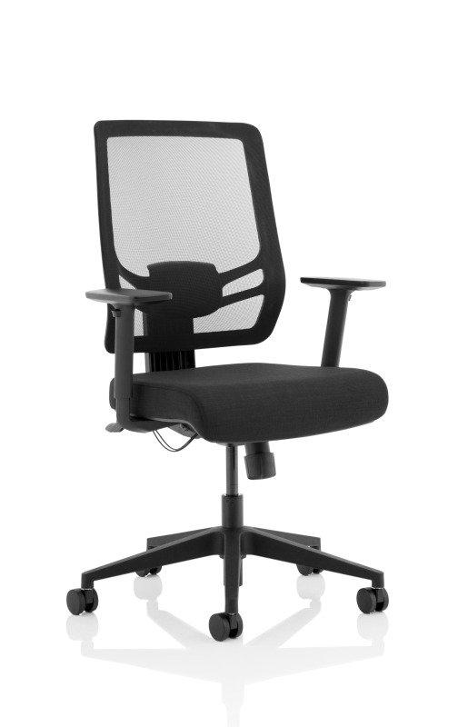 Ergo Twist - Fabric Seat, Mesh Back - Black
