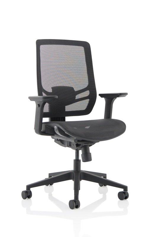 Ergo Twist - Mesh Seat, Mesh Back, Black