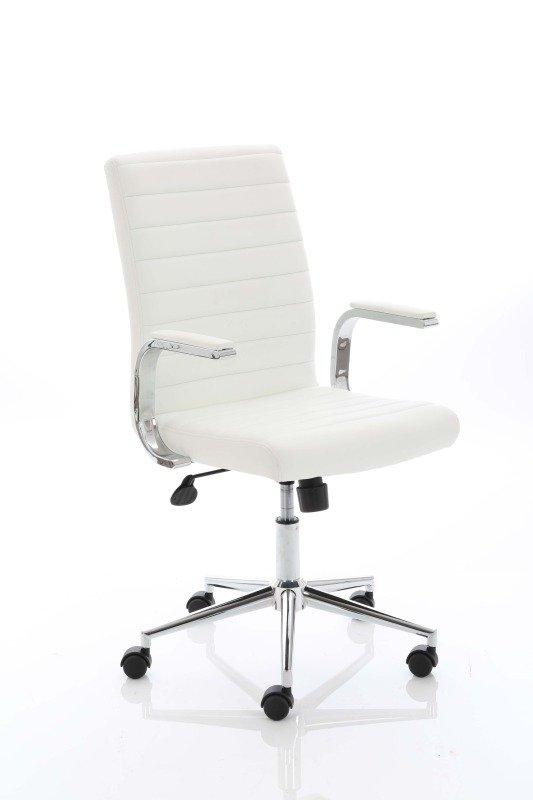 Ezra Executive Leather Chair - White