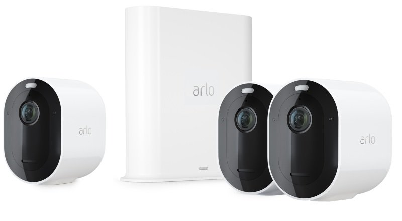 Arlo Pro3 Smart Home Security Cameras | Alarm | Rechargeable | Colour Night Vision | Indoor/Outdoor | 2K QHD | 2-Way Audio | Spotlight | 3 Camera Kit | VMS4340P