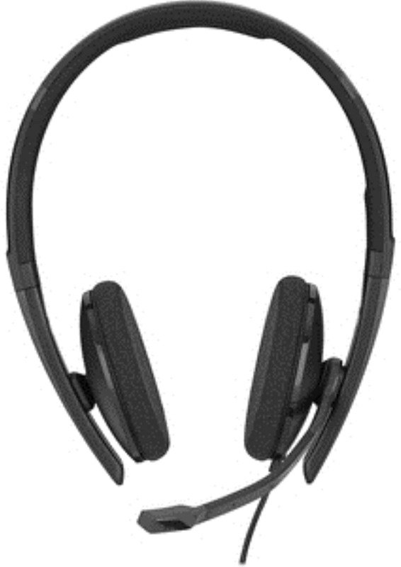 Sennheiser SC 160 USB - Double-Sided (Binaural) Headset with HD Stereo Sound, Noise Canceling Microphone, USB Connector, Black
