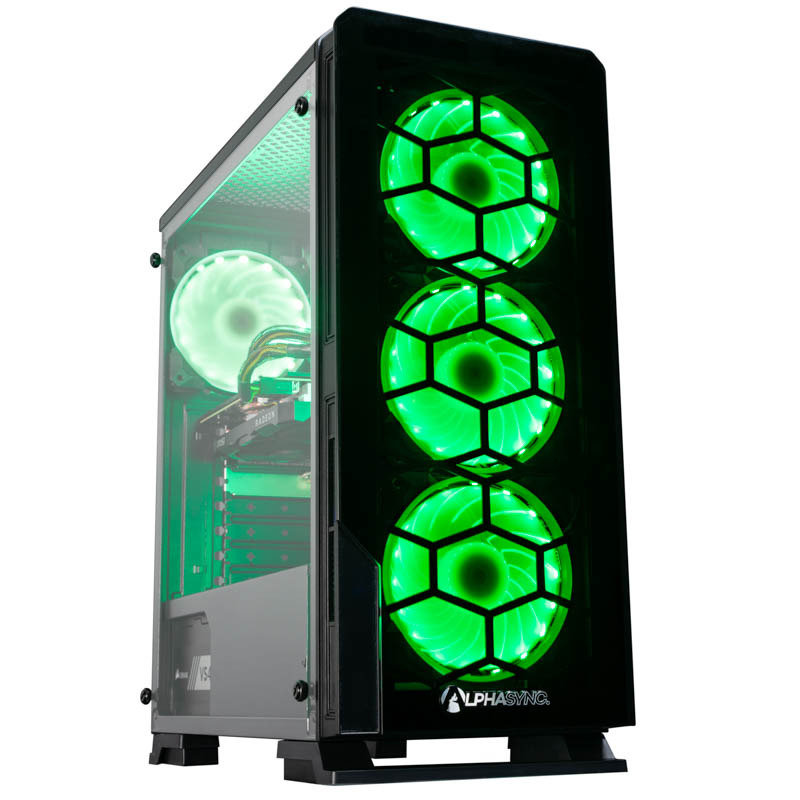 Image of AlphaSync Gaming Desktop PC, AMD Ryzen 5 3600 3.6GHz, 16GB DDR4, 1TB HDD, 120GB SSD, MSI RX 5500 XT GAMING X 8G, Windows 10 Home